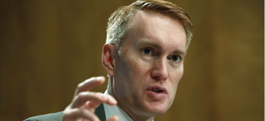 """Sen. James Lankford, R-Okla., told federal employees that lawmakers """"can disagree with colleagues on policy, but the last people we're angry at is you."""""""