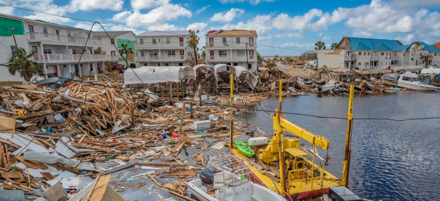 Lawmakers want to improve intergovernmental coordination on a host of issues, including emergency management. Above, Mexico Beach, Florida, in October 2018 after Hurricane Michael swept through.