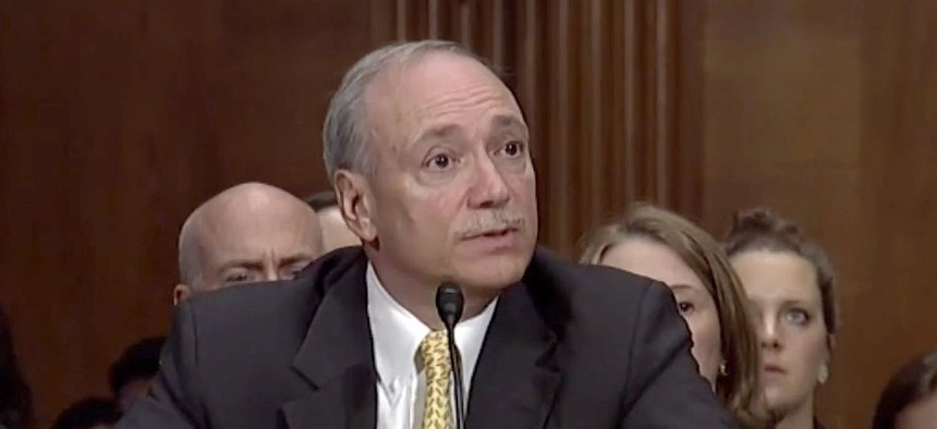 Senate Democrats grilled now acting Labor Secretary Patrick Pizzella during his 2017 confirmation hearing for the No. 2 spot at the department.