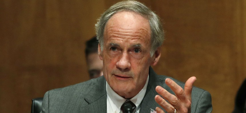Sen. Tom Carper, D-Del., helped usher through the Senate Homeland Security and Governmental Affairs Committee an update to the administrative leave law  that would address the implementation problem.