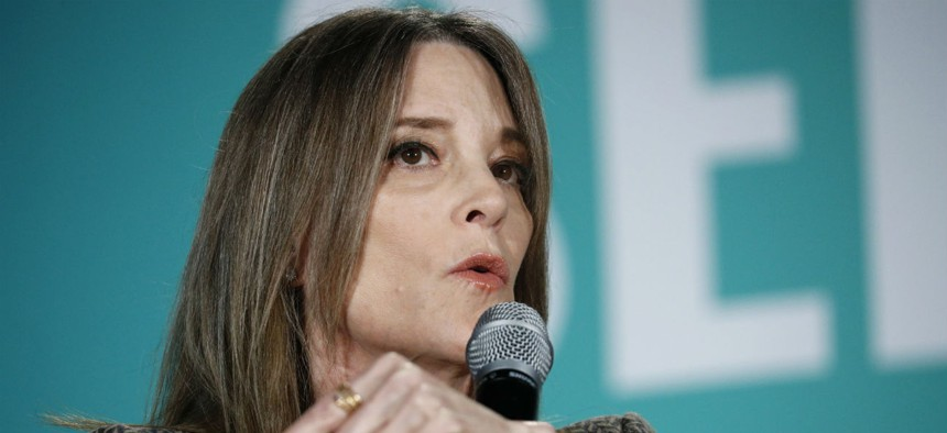 Democratic presidential candidate and author Marianne Williamson has proposed a Department of Peace.