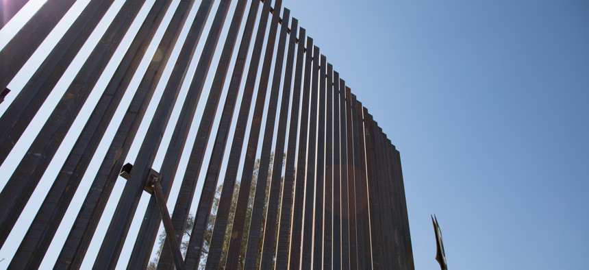 The fence in El Centro Sector near the Calexico West Port of Entry is shown in 2018.