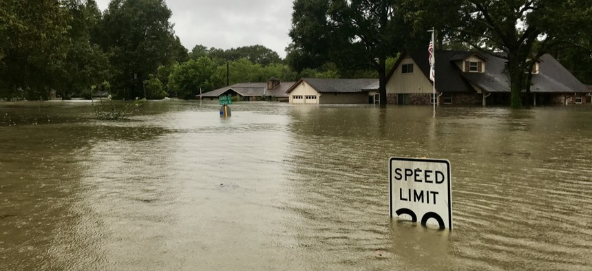 Spring, Texas is show in 2017 after Hurricane Harvey hit the town.