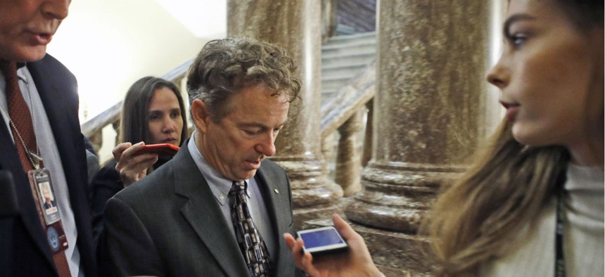 Sen. Rand Paul, R-Ky., has attempted to out the whistleblower whose disclosures sparked President Trump's impeachment, alarming whistleblower advocates who believe such a move would have far-reaching consequences.