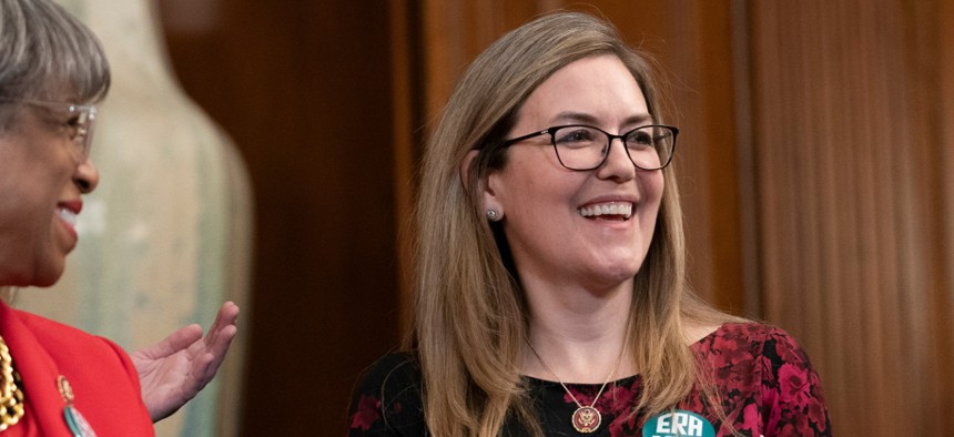Rep. Jennifer Wexton, D-Va., wrote an open letter Wednesday seeking candidates' plans.
