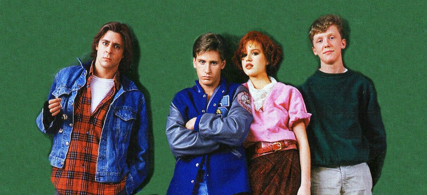 """The cast of the 1985 film """"The Breakfast Club."""""""