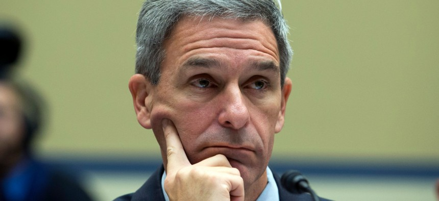 Ken Cuccinelli, acting leader of U.S. Citizenship and Immigration Services, testifies before Congress in October.