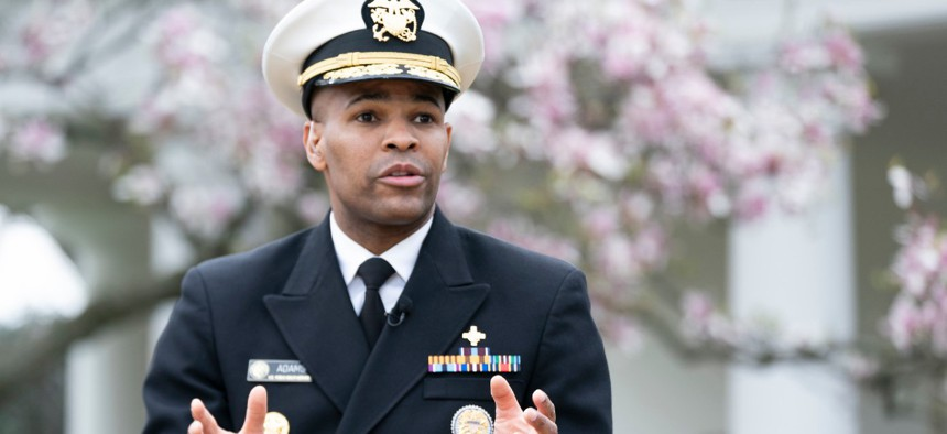 U.S. Surgeon General Jerome Adams, a member of the White House Coronavirus Task Force, oversees the U.S. Public Health Service.
