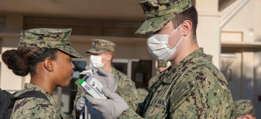 The U.S. Navy's Expeditionary Medical Facility prepares to deploy from Naval Air Station Jacksonville, Florida, to New Orleans in support of the Pentagon's COVID-19 response.