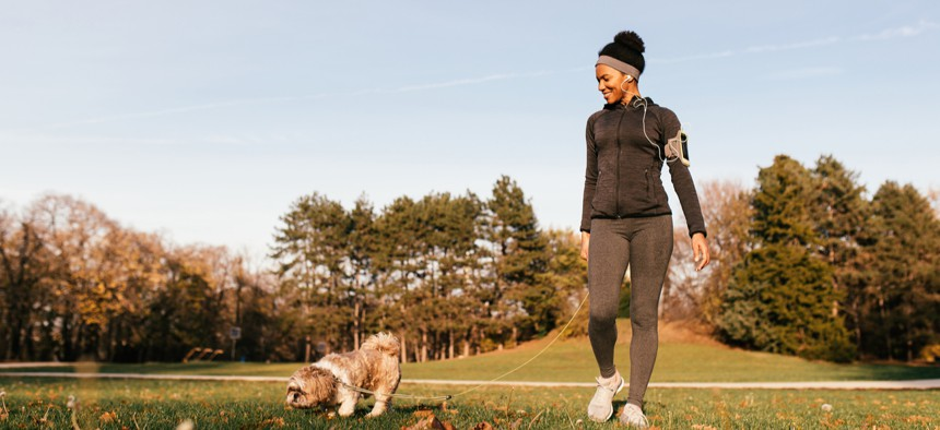Try to get outside during daylight to set your circadian rhythms.