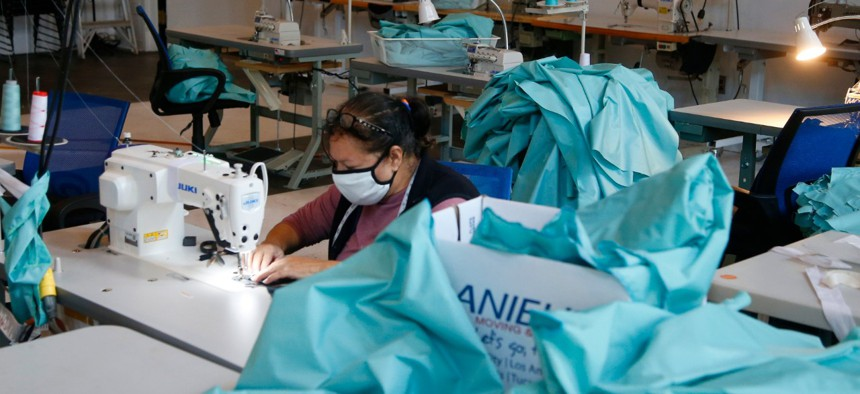 The nonprofit F.A.B.R.I.C. is working around the clock to create thousands of FDA approved isolation gowns for local workers on the front lines of the pandemic.