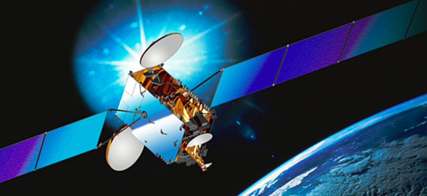 An intelsat Galaxy 7 satellite.