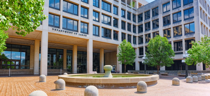 U.S. Labor Department headquarters in Washington.