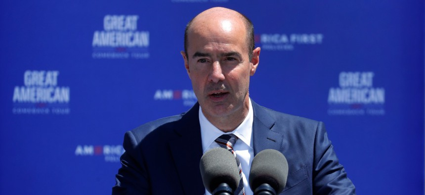 Labor Secretary Eugene Scalia. Three meatpacking workers have filed a lawsuit against Scalia and the Occupational Safety and Health Administration.
