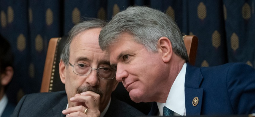 House Foreign Affairs Committee Chairman Eliot Engel and Rep. Michael McCaul, ranking member, shown above at a pre-pandemic hearing, condemned USAGM CEO Michael Pack for not showing up at a hearing Thursday.
