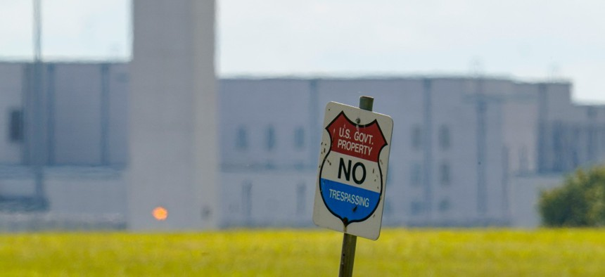 The federal prison complex in Terre Haute, Ind., is shown on Aug. 26.