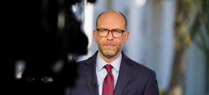 White House Budget Director Russell Vought, shown here in 2019, said a pay freeze for civilian employees is appropriate in the current budget climate.