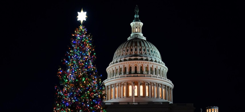 The west front of the U.S. Capitol on Dec. 2, 2020.
