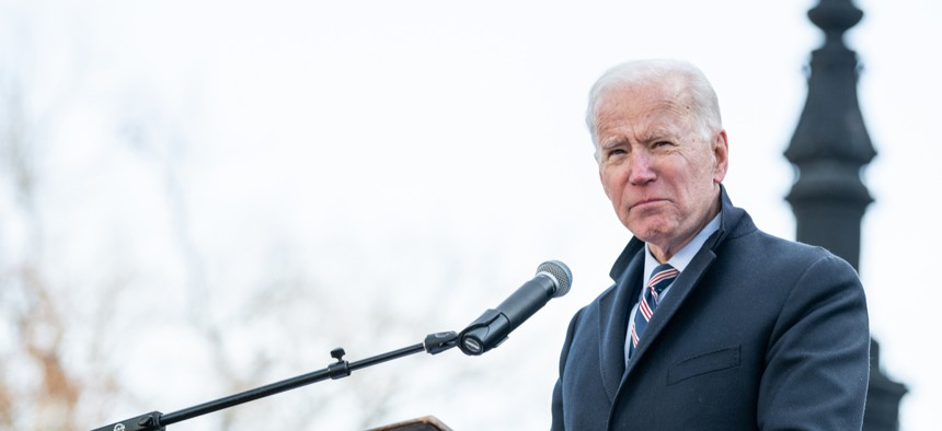 Then-candidate Joe Biden on the campaign trail in South Carolina in January 2020.
