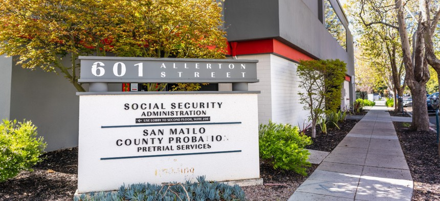 Social Security Administration office in Redwood City, California.