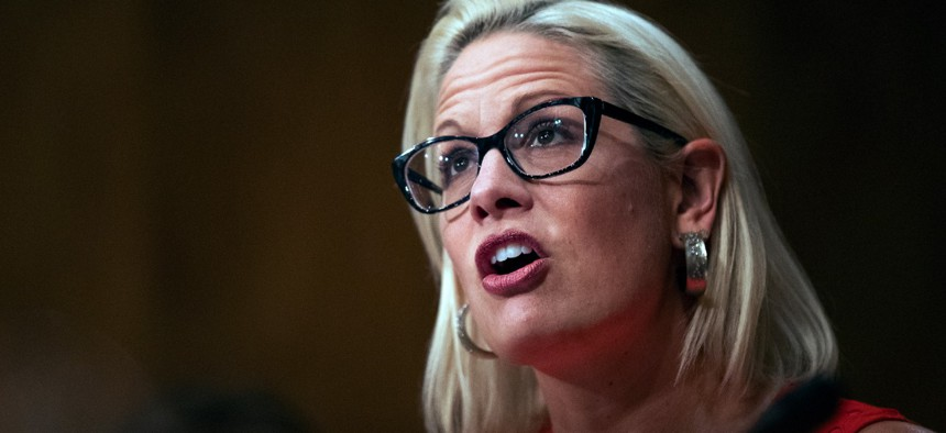 Sen. Kyrsten Sinema, D-Ariz., is one of the sponsors of the bill to increase hiring.