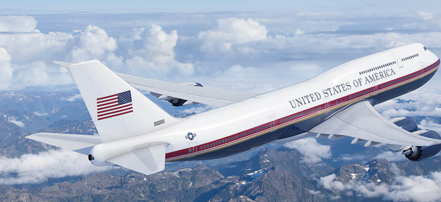 A Boeing illustration of new Air Force One jets.