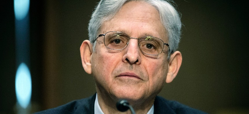 Attorney General Merrick Garland testifies on Capitol Hill on May 12.