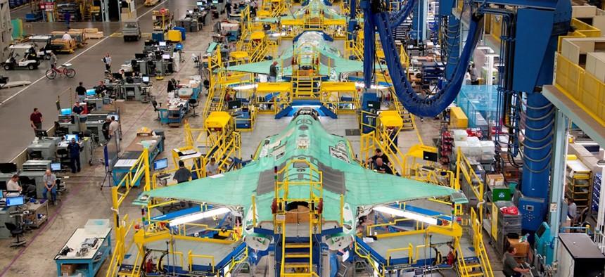 Lockheed Martin's F-35, assembled at the corporation's Aeronautics facility in Fort Worth, Texas.