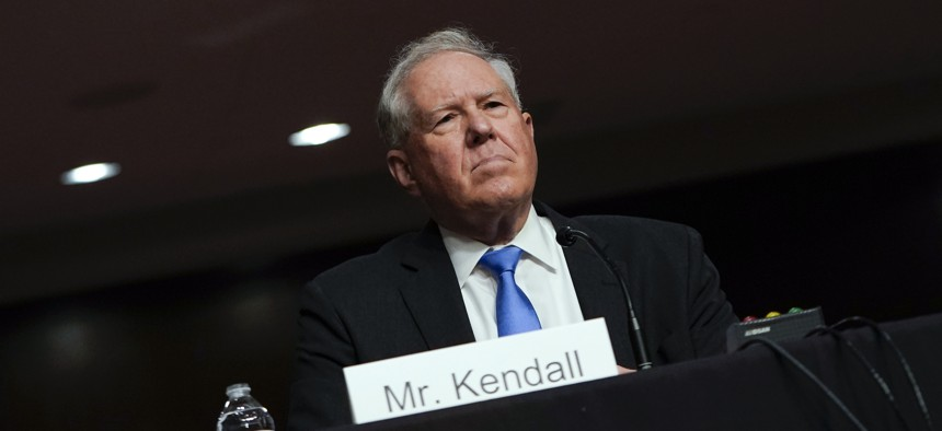 Frank Kendall appears for his confirmation hearing to be Air Force secretary before the Senate Armed Services Committee on Tuesday, May 25.