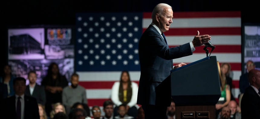 President Biden commemorates the 100th anniversary of the Tulsa race massacre, at the Greenwood Cultural Center, Tuesday, June 1, 2021, in Tulsa, Okla.