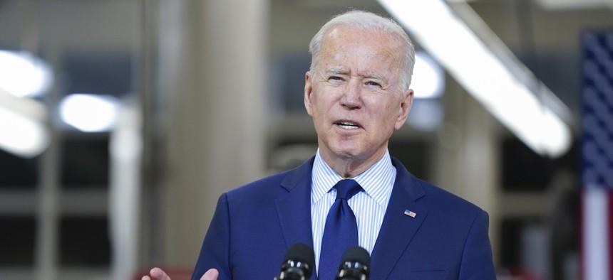Biden speaks in Cleveland on May 27.