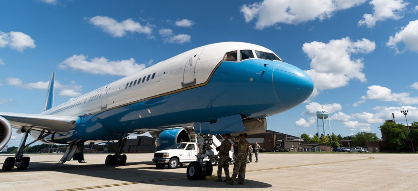 A U.S. Air Force C-32A from the 89th Airlift Wing on July 23, 2019.