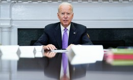 President Biden speaks during a meeting at the White House in June.