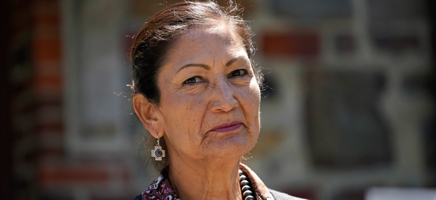 """Interior Secretary Deb Haaland said Interior must ensure it implements """"the highest standards for protecting the public and provides necessary policy guidance, resources and training."""""""