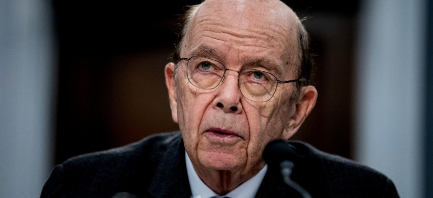 Then-Commerce Secretary Wilbur Ross testifies on Capitol Hill in March 2020. The Justice Department will not prosecute Ross or other former Trump officials despite an IG finding that they provided false testimony regarding the origins of the proposed citizenship question on the 2020 census.