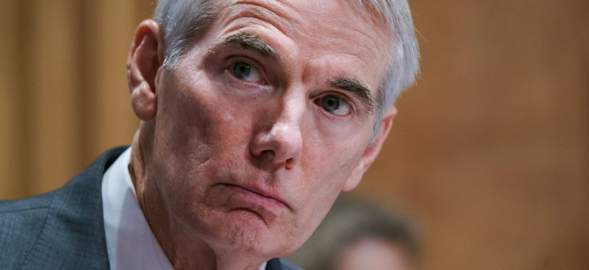 Sen. Rob Portman, R-Ohio, who is helping lead infrastructure negotiations, said the IRS funding boost had been cut from the deal.