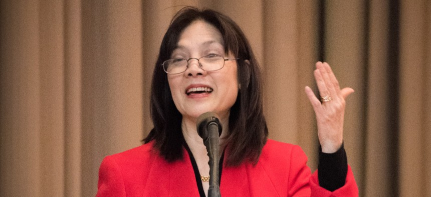 Agriculture Inspector General Phyllis Fong speaks at an event in March 2017.