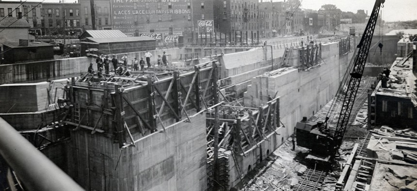 Constructing barge canals took a massive investment that didn't pay off.