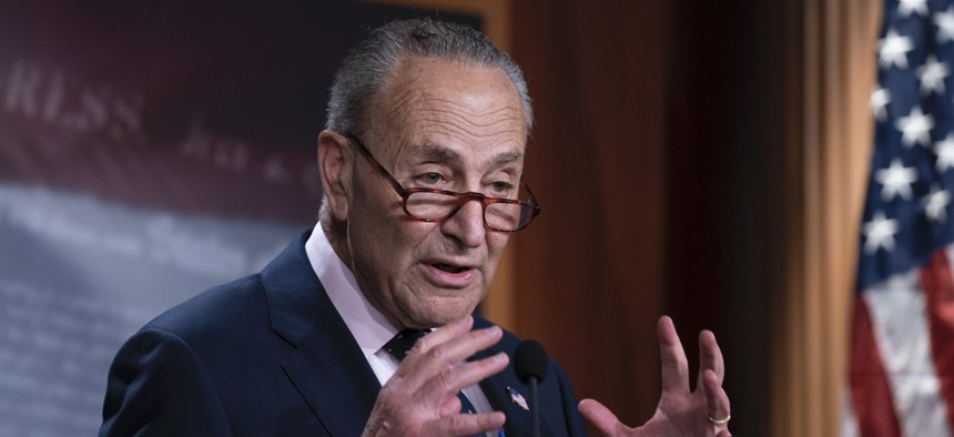 """On Monday, Senate Majority Leader Chuck Schumer released an outline of a coming budget bill that includes a directive to the Senate Finance Committee to expand Medicare """"to include dental, vision, hearing benefits."""" The catch — all the Democrats in the Senate and almost all in the House will have to agree on the entire budget bill for it to become law."""