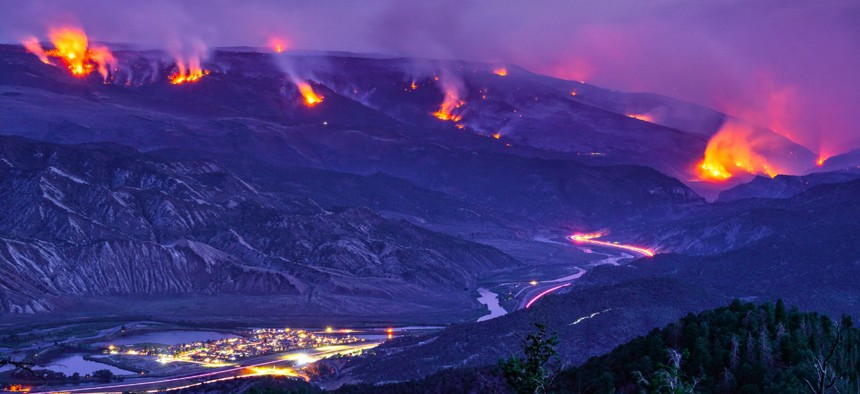 The 2020 Grizzly Creek Fire in Glenwood Canyon, Colorado, burned portions of White River National Forest.