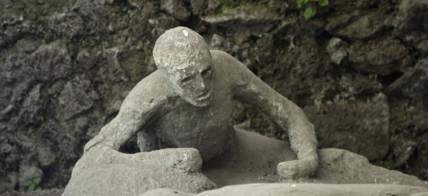 As they do today, threats of destruction loomed in ancient Pompeii.