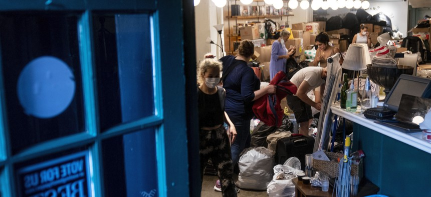 Volunteers in Washington, D.C. receive, sort, and pack thousands of items donated to Afghan refugees resettling in the region.