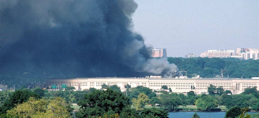 Smoke billows from the Pentagon after the Sept. 11 attacks in 2001.