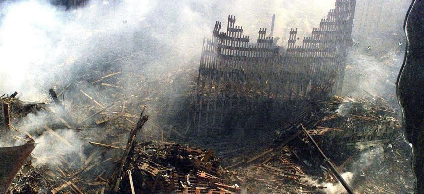 Ground Zero is show on Sept. 17, 2001.