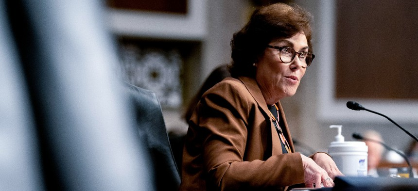 Sen. Jacky Rosen, D-Nev., praised the MSPB nominees for their experience in federal workforce issues.