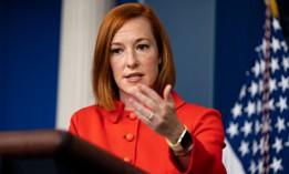 White House Press Secretary Jen Psaki speaks during a briefing on Oct. 12.