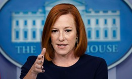 White House press secretary Jen Psaki speaks during the daily briefing at the White House on Monday.
