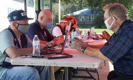 FEMA workers help residents in North Carolina in September.
