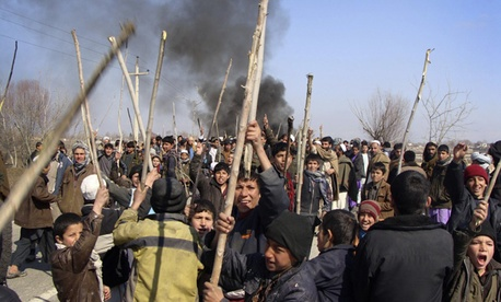 Anti-U.S. protests continued in Baghlan Thursday.