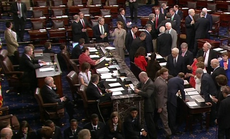 The Senate floor in August 2011.